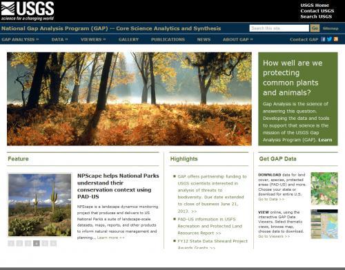 USGS Gap Analysis Program Home Page