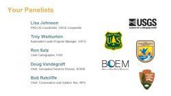 Panelists for DOI presentation