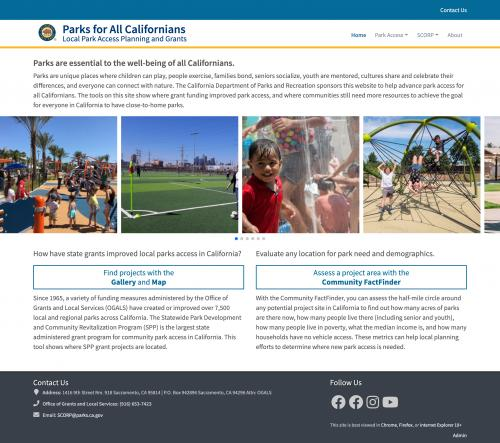 parksforcalifornia.org home page