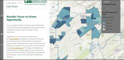 Map showing opportunities for tree planting