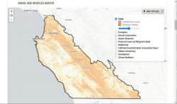 Example map of modeled habitat