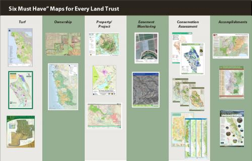 Poster of land trust maps