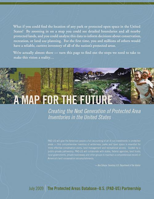 Report Cover for National Strategy on Protected Lands Data