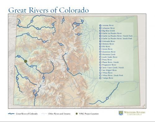Great Rivers of Colorado Map