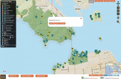 GGNPC Park Finder Web Map