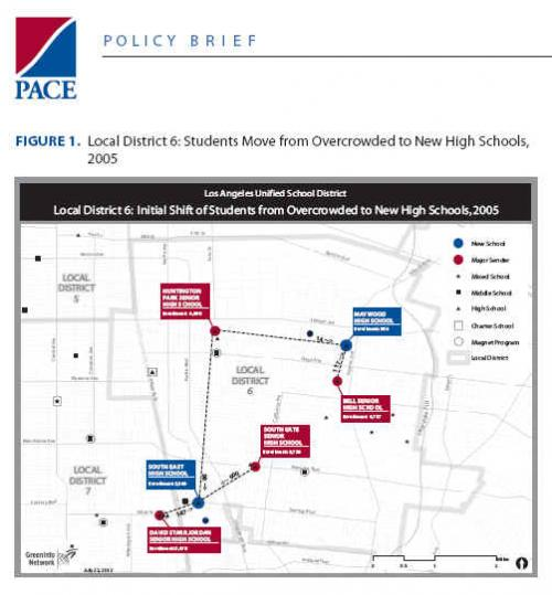 Enrollment Shifts 2005, LAUSD District 6