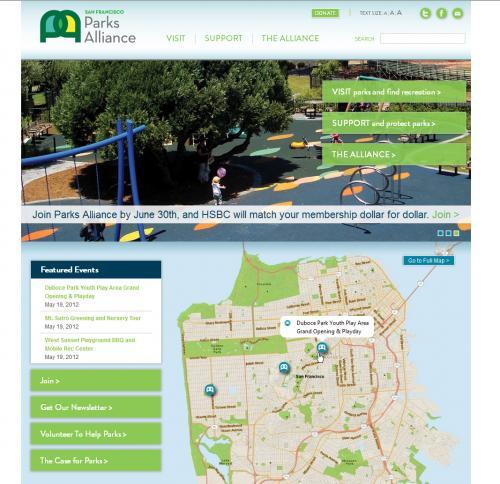 San Francisco Parks Alliance Web Page