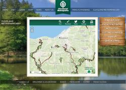 Image of Cleveland Metroparks Trail Finder home page
