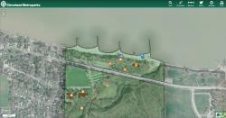 Cleveland Metroparks Trail Finder Map View