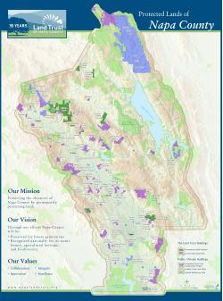 35th Anniversary Map of Napa Land Trust