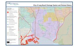Long Beach Drainage System Map