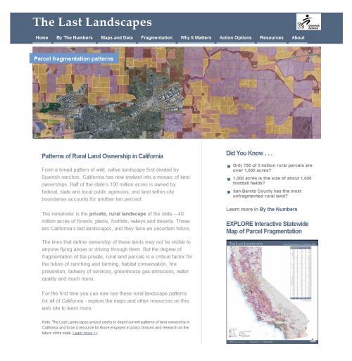 Last Landscapes Project Web Page