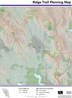 Greeninfo Network Information And Mapping In The Public Interest Bay area ridge trail loop is a 5.3 mile lightly trafficked loop trail located near fairfax, california that features beautiful wild flowers and is rated as moderate. greeninfo network information and