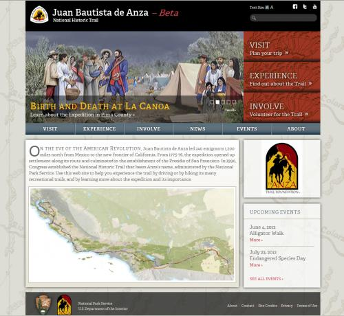 Anza Historic Trail Web Site Home Page