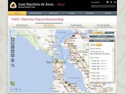 Trip Planner Interface for Anza Trail Site