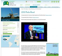 San Francisco Parks Alliance Interior Web Page
