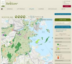 Example ParkScore City Map Detail Page