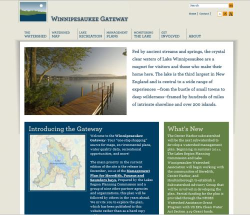 Lake  Winnipesaukee Web Site Home Page