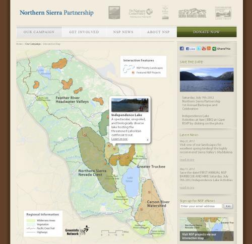Northern Sierra Priorities Map
