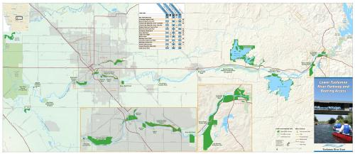Lower Tuolumne River Parkway & Boating Access Map