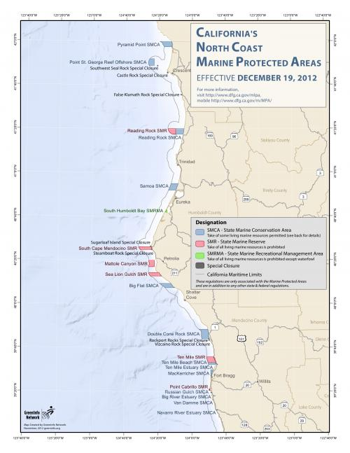 MPA Map for Central California Coast