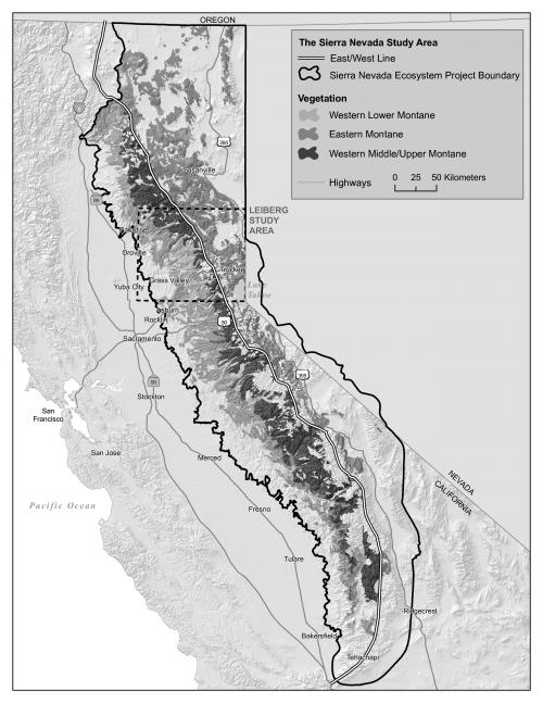 Sierra Nevada Study Area