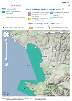 Close Up View of Coastkeeper Map Application