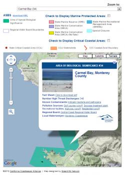 Example Popup Box for Coastkeeper Application