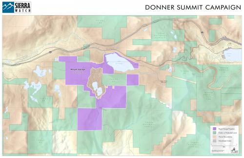 Sierra Watch Donner Summit Campaign Map