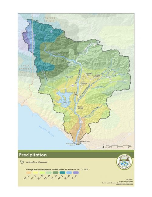 Precipitation Map for Watershed