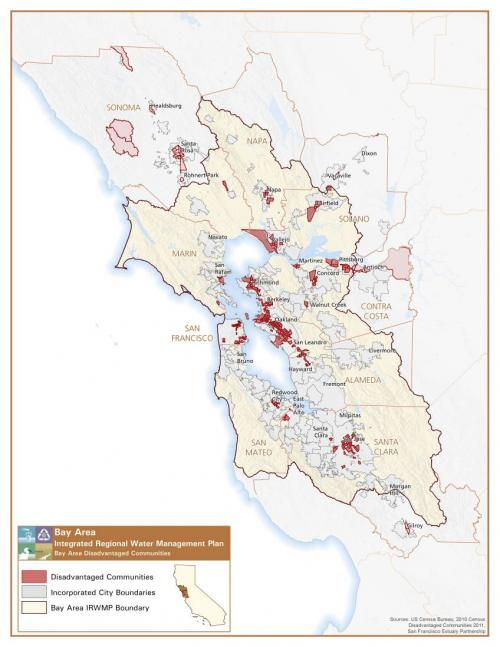 Map of Disadvantaged Communities in Bay Area