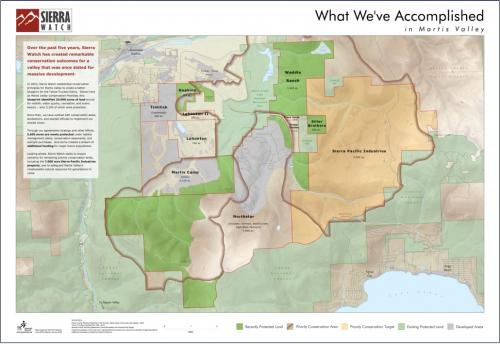 Martis Valley Accomplishments Map