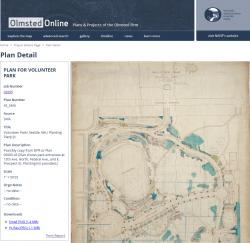 Olmsted Online Project Plan Page