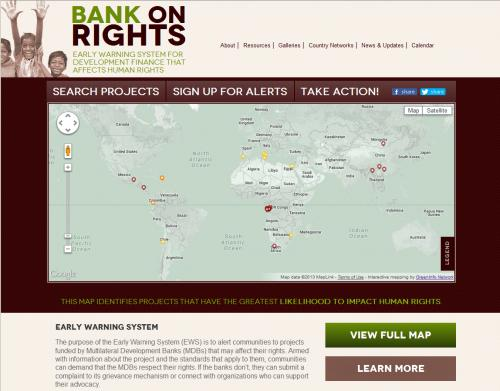 IAP Bank on Rights Web Home Page