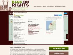 Bank On Rights Project Information Screen