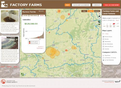 Basic View of Factor Farms Application