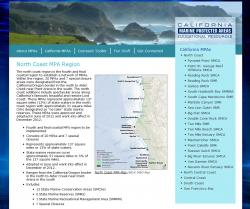 California MPA Web Site with Map
