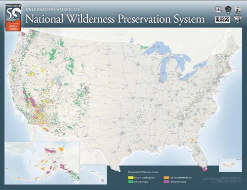 Main Map for 50th Anniversary Wilderness Act Poster