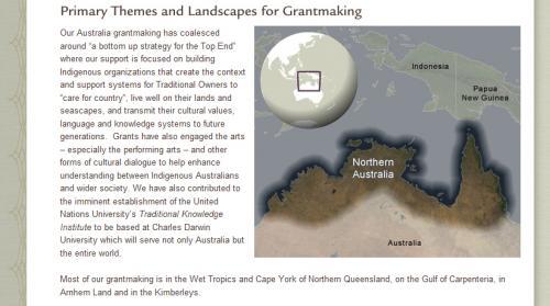 Map Illustration of Grantmaking Area