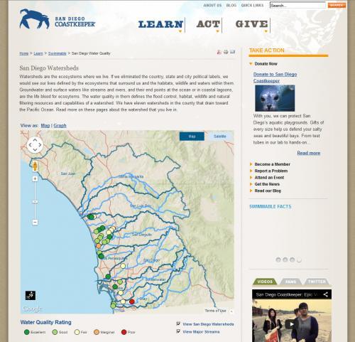 Coastkeeper Pollution Map