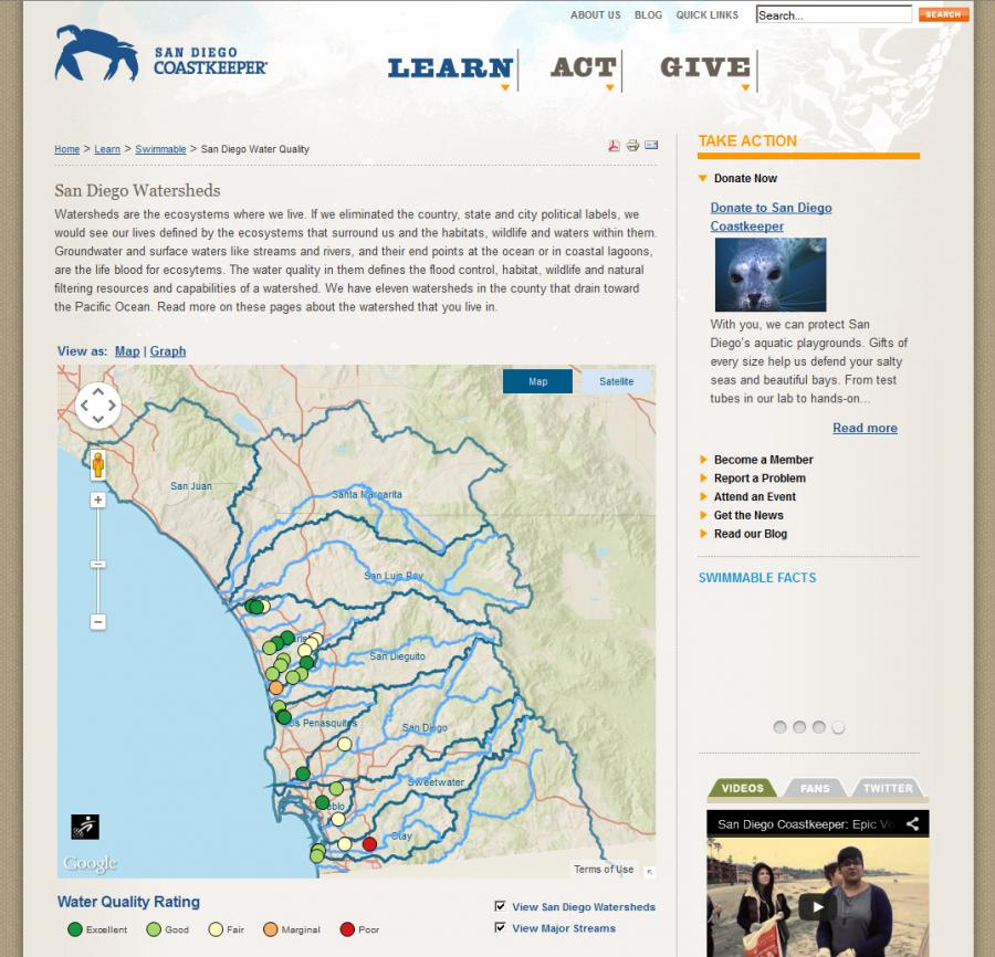 Greeninfo Network Information And Mapping In The Public Interest - Us-water-quality-map