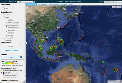 Reef Check Web Map Application