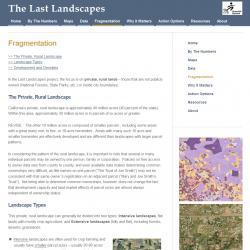 Last Landscapes Web Site - California Parcelization