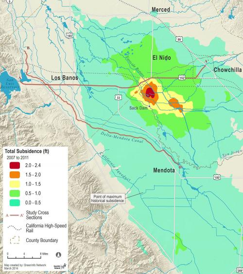 Land Subsidence in the Central Valley
