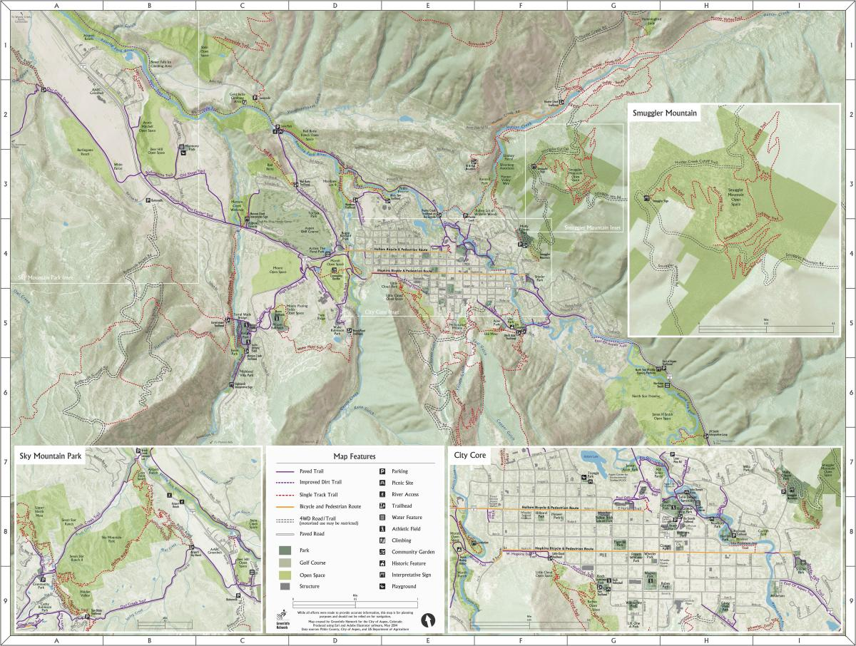 GreenInfo Network Information And Mapping In The Public Interest - Map of colorado ski resorts and cities