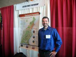 Eastern Forests Map Poster on Display