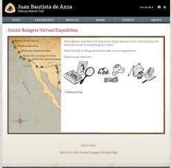 Anza Jr. Ranger Example Quiz Panel