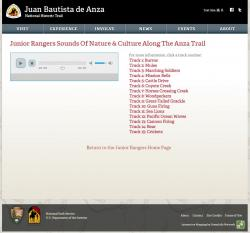 Anza Jr. Ranger Media Inventory Listing (sounds)