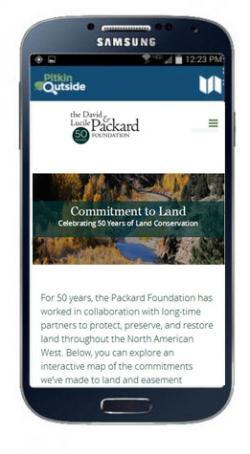 Atlas web site is mobile-responsive