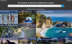 CaliParks.org Main Screen
